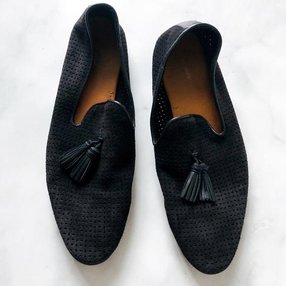 8b1df9b74ef Zara Men s Perforated Tassel Loafer Flat 10